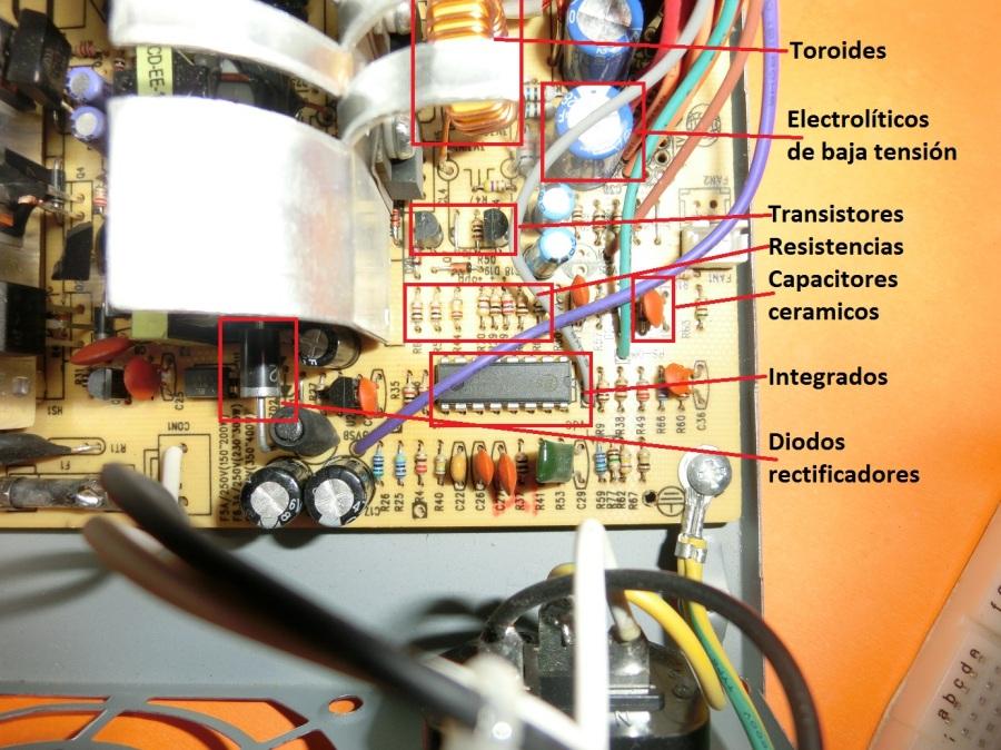 Reciclado de fuentes decomputadoras