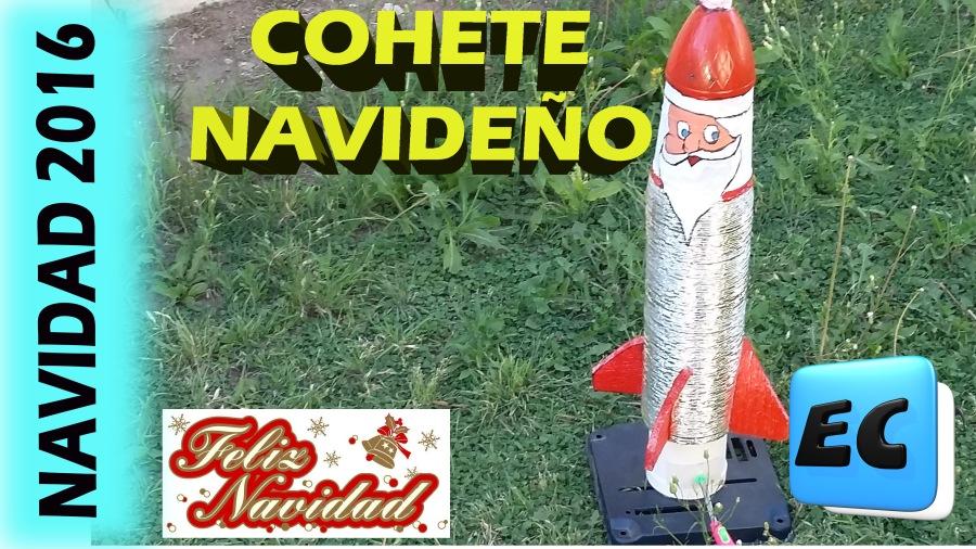 Cohete casero navideño muyfacil
