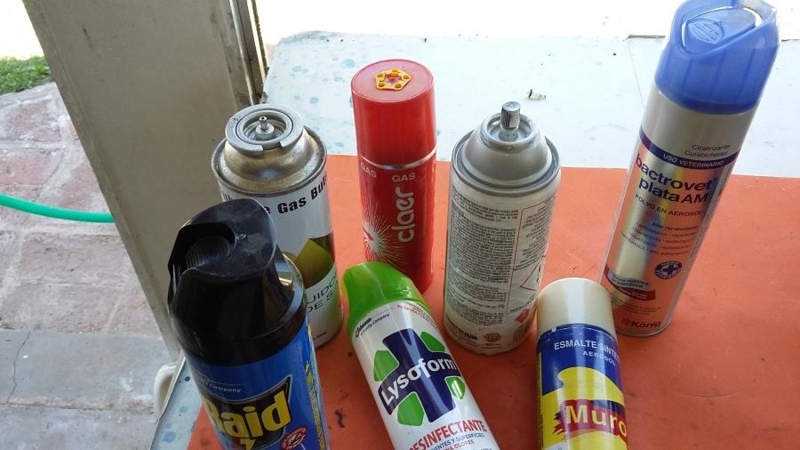 Tres trucos con aerosolesReciclado