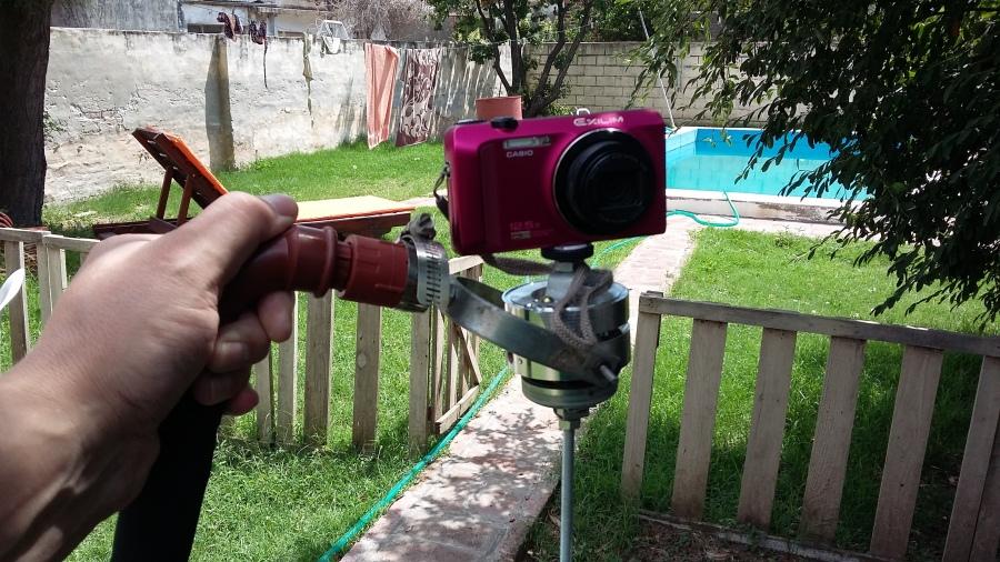 Estabilizador de cámara con partes de unaVHS